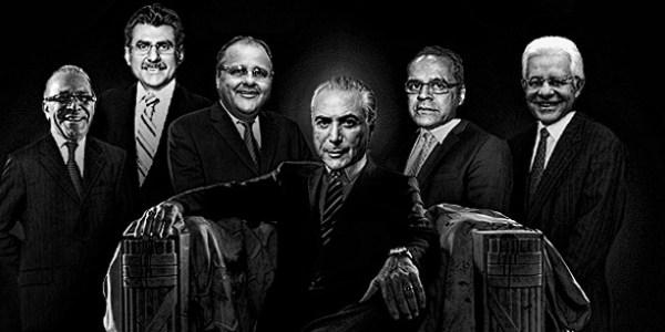 A CHARGE DE Conheça os cinco homens fortes que cercam Michel Temer