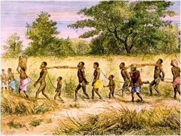 Índios e negros torturados