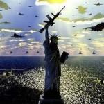 Estátua da Liberdade com fuzil